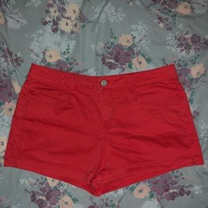 SO Red Jean Shorts